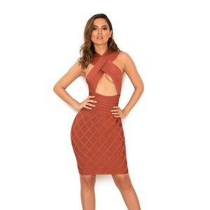 House of CB Liliana Crossover Bandage Dress Large